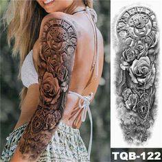 Arm Sleeve Tattoos For Women, Dope Tattoos For Women, Full Arm Tattoos, Leg Tattoos, Girl Tattoos, Tigh Tattoo, Tatoo Art, Real Tattoo, Tattoo People
