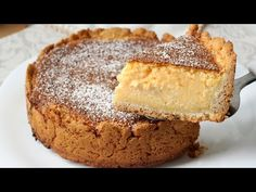 Cheesecake with shortcrust pastry: the beautiful and delicious dessert Köstliche Desserts, Delicious Desserts, Tart Taste, Shortcrust Pastry, Oven Roast, Veggie Dishes, Flan, Greek Recipes, Cheesecakes