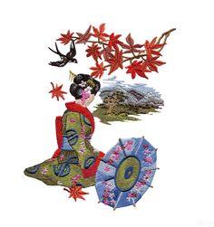 A Geisha's Garden Embroidery Design Collection - Fashion - Design Collections - Embroidery Designs