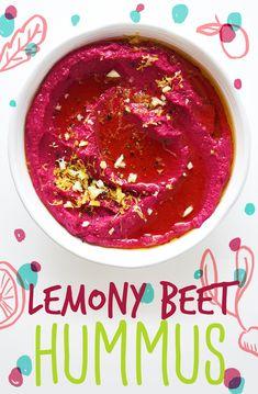 Lemony Beet Hummus