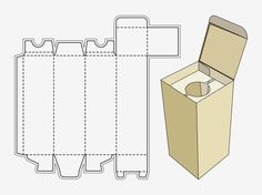 paper boxes templates   Wine Box Template