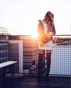 Wie trage ich Overknee - Stiefel | POPSUGAR Deutschland