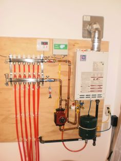 Radiant Floor Heating System X Shop Heating Help The Wall - In floor heating manifold Hydronic Radiant Floor Heating, Hydronic Heating, Underfloor Heating, Small Basement Bathroom, Add A Bathroom, Bathroom Plumbing, Pex Plumbing, Heating And Plumbing, Plumbing Drains