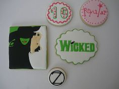 Wicked Musical Theme Party Cookies...Celebrating 10 years on Broadway!