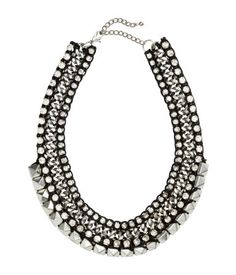 H&M Rhinestone & Stud Necklace $24.95