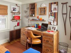Check out this room makeover courtesy of #hgtvmagazine for a Navy Corpsman turned student http://www.hgtv.com/decorating-basics/hgtv-magazine-makes-over-a-room/pictures/page-3.html?soc=pinterest#