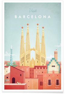 Barcelona - Henry Rivers - Premium Poster