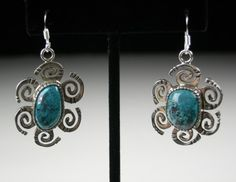 Gold Canyon Earrings, by Kee Yazzie, Jr.