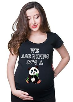 A gift for mums to be; we are hoping it's a panda! Cute tshirt. Check out our large collection of panda products from all over the web.