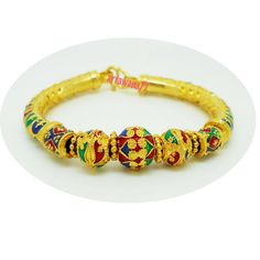 Lai Thai  22K 23K 24K Thai Baht Yellow Gold Plated Bracelet Bangle Women Jewelry