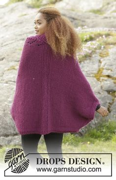 """Knitted DROPS jacket with lace pattern and shawl collar in """"Eskimo"""". Size: S - XXXL. Free pattern by DROPS Design. Drops Design, Knitting Paterns, Free Knitting, Magazine Drops, Drops Patterns, Knitted Cape, Collar Designs, Knit Fashion, Handmade Clothes"""