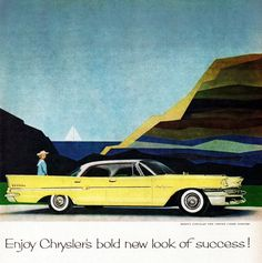Chrysler New Yorker 1958 Look Of Bold Success | Mad Men Art | Vintage Ad Art Collection