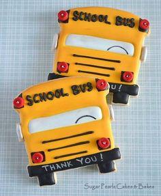 School Bus Cookies~      by Sugar Pearls Cakes & Bakes, Yellow