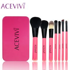 ACEVIVI Brand 7Pcs Professional Makeup Brush Set Cosmetics Kit Powder Eyeshadow Contour Concealer Make Up Brushes Kit With Box #Affiliate