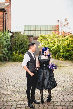 Jo & Spig's goth-ish geeky intimate wedding