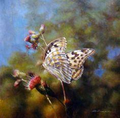 Бабочки и цветы в живописи. G. Salman. Обсуждение на LiveInternet - Российский Сервис Онлайн-Дневников