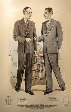 Plate from 1927 J.L. Taylor men's fashion catalogue.