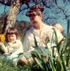 Sixties | Sylvia Plath with her two children, Nicholas and Frieda, April, 1962Photograph: Siv Arb/Writer Pictures
