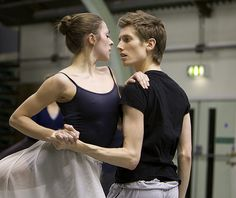 Martina Forioso and Daniel Davidson in rehearsals for Carmen, Scottish Ballet. Photograph by Andrew Ross.