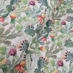 Portuguese cork fabric, Cactus on white cork / Cork Fabric, Shoemaking, Portuguese, Craft Projects, Cactus, Etsy Shop, Green, Handmade, Beautiful