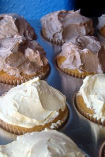 Yellow Cupcakes with Vanilla or Chocolate Buttercream Frosting (grain ...