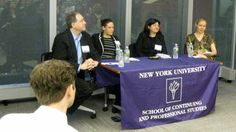 NYU SHRM's Navigating Office Politics panel, from left: Todd Cherches (Big Blue Gumball & NYU Adjunct Prof.), Leslie Paul (New York Life Insurance), Annemarie DiGiacomo (Deloitte & NYU M.S HRMD alumna) and Lindsy Noble (Chobani, Independent Executive Coach & NYU HRMD Graduate Student)