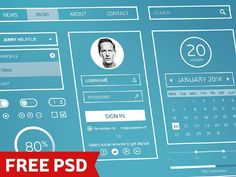 50 Free UI Kits For Designers PSD Format