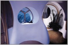 Dean 07 Hall 02 Organic Architecture, Art And Architecture, Beautiful Architecture, Earth Bag Homes, Roger Dean, Earthship Home, Adobe House, Tadelakt, Natural Homes