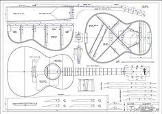 Gitarrenbau Außenform - 00-Typ