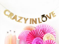 Bachelorette Party Banner | Bachelorette Party | Crazy In Love Beyonce Banner by FoxFete on Etsy https://www.etsy.com/listing/463703804/bachelorette-party-banner-bachelorette