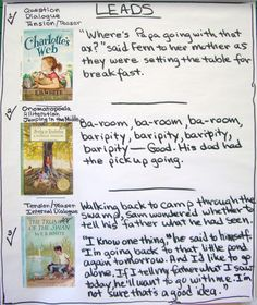 Leads Using Mentor Texts