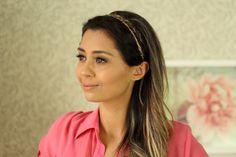 Penteado Fácil (cabelo longo ou com aplique tic tac) por Luiza Gomes
