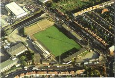Plough Lane from the air