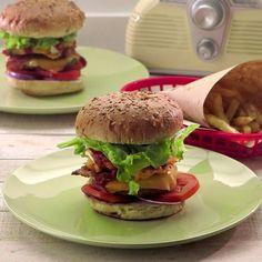 Comida Diy, Food Videos, Hamburger, Pizza, Healthy Recipes, Breakfast, Ethnic Recipes, Desserts, Ideas