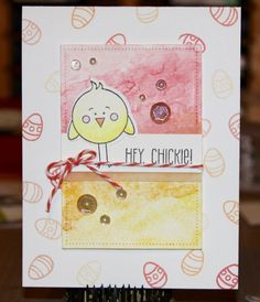 SSS March 2017 card kit - Pinterest Lift, LF Happy Easter and Dotted Rectangle die   VT 4/17