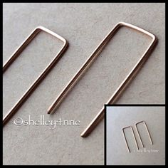 Rose Gold Square Top Hook Earrings New   perfect condition!   NO...I DO NOT TRADE Olive Yew Jewelry Earrings