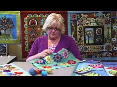 The Quilt Show: Trailer 1304 - Wendy Butler Berns / Sue Spargo Wool Embroidery, Wool Applique, Felted Wool Crafts, Felt Crafts, Missouri Quilt, The Quilt Show, Wool Quilts, Shabby Fabrics, Penny Rugs