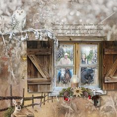 Gorgeous pages made with Woodland Winter by #snickerdoodledesigns #thestudio #digitalscrapbooking