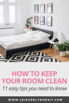 Discover how to keep your room clean. These simple tips will make it easy to keep clutter at bay and reduce dirt in your bedrooms. Household Cleaning Schedule, Cleaning Schedule Printable, Deep Cleaning, Cleaning Hacks, Cleaning Routines, Cleaning Checklist, Organizing Tips, Spring Cleaning, Clean Bedroom