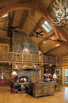This Log Home Is Really Something Special, and It Looks Even Better inside (Click for Floor Plans)