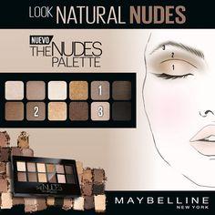 Os proponemos el look Natural Nudes para este viernes. ¿Qué os parece? Prueba la nueva The Nudes Palette y #vistethenudes #soynudedia
