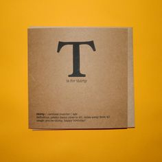 T is for thirty, Thirtieth 30th birthday card. Typography Funny - Hand crafted art card. by TeddyPerkins on Etsy