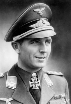 Luftwaffe Hauptmann Herbert Ihlefeld (Herbert Ihlefeld, 1914 - 1995). Member of the Civil War in Spain as part of the Legion 'Condor'. In total, during the Second World War H. Ilefeld performed 987 sorties and scored 123 aerial victories.