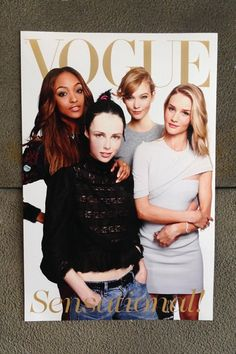 Model covers at the Vogue Festival - Jourdan Dunn, Edie Campbell, Karlie Kloss and Rosie Huntington-Whiteley