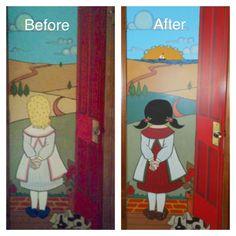 Revamped mom's garage door