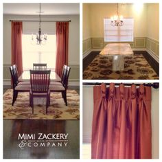 Jenkins Dining Room  #CustomDrapery #Curtains #DiningRoom