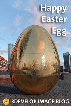 Modelling and rendering a giant easter egg on Noordereiland in Rotterdam