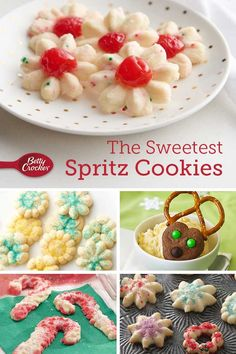 Light and buttery, spritz cookies are a holiday must. Make the classic, or try a new twist. Spritz Cookie Recipe, Spritz Cookies, Cookie Recipes, Yummy Recipes, Best Christmas Cookie Recipe, Christmas Baking, Christmas Goodies, Betty Crocker Sugar Cookies, Stove Top Meatloaf