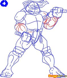how-to-draw-michelangelo-from-the-tmnt-step-4