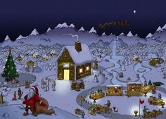 #winter scenario (for #Postcard ) from the game #travians at www.travians.com